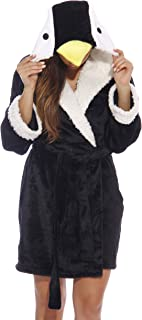Just Love Critter Robe Sherpa Trim Velour Robes for Women