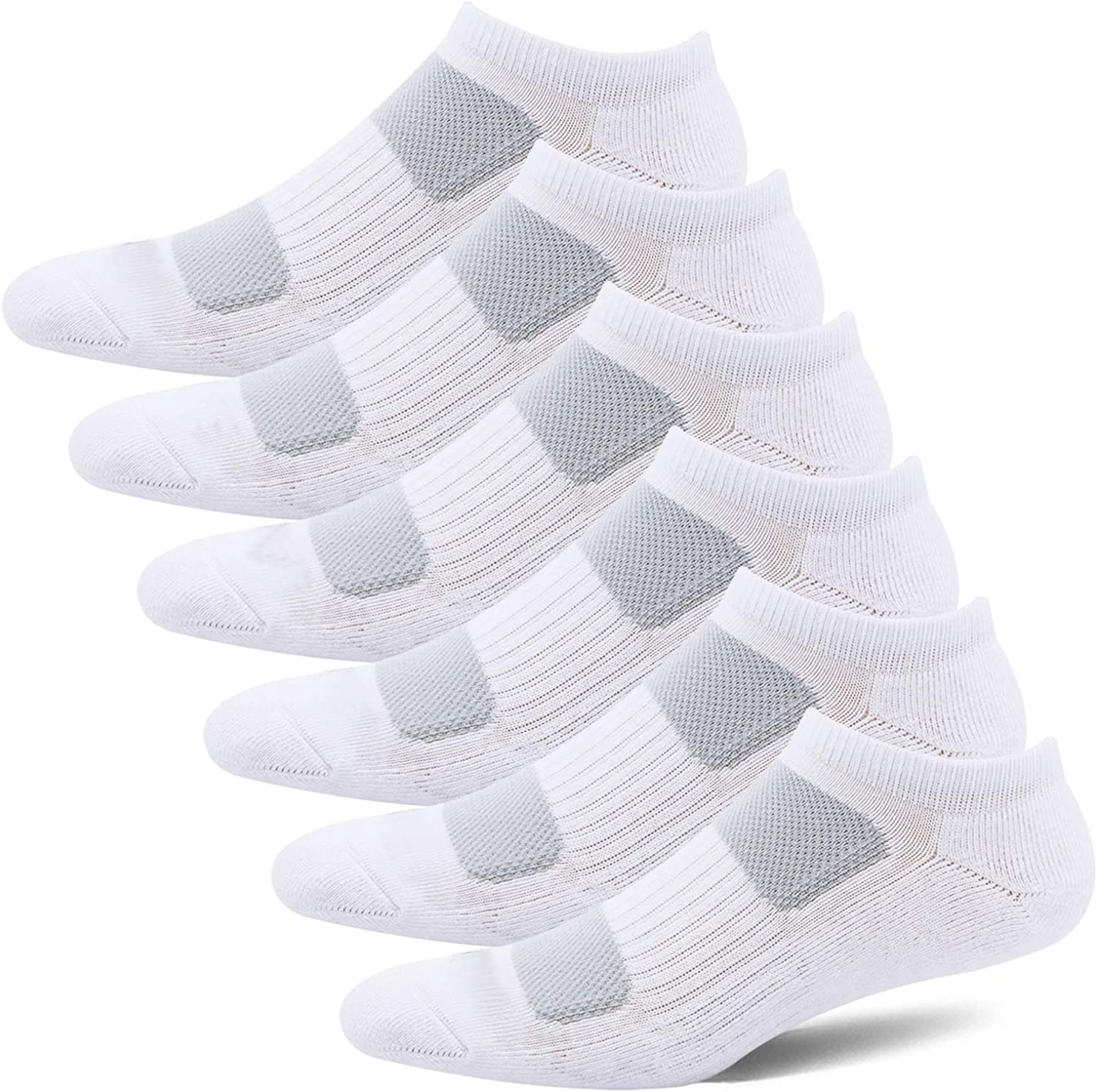 BERING Women's Low Ankle Comfort Athletic Socks (6 Pair Pack)