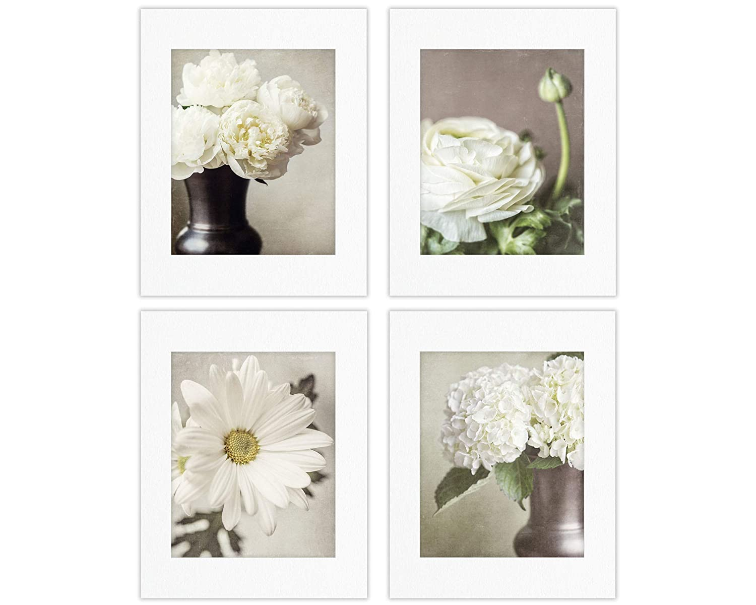Shabby Chic Wall Decor Set of Not Flower 4 Photo Framed Max 60% OFF Floral Trust