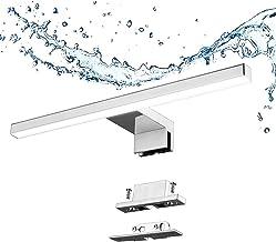 Led Spiegellamp Badkamer 5w 400lm 30cm 230v Neutraal Wit 4000k Aogled,Roestvrij Staal 3-in-1 Ip44 Waterdicht Klasse Ii Sla...