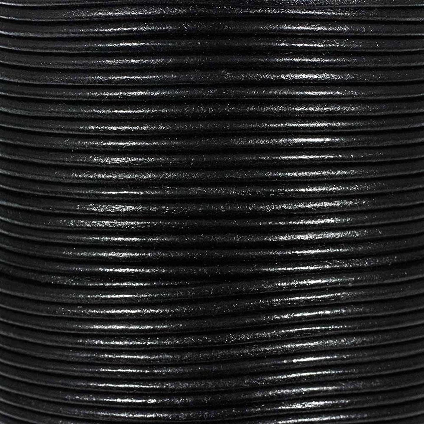 Craft County Round Leather Cord – 3mm – 5, 10, 25, or 50 Yards – Available in Different Colors