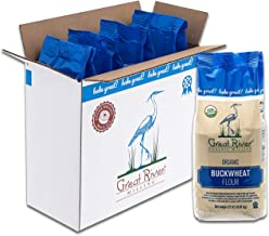 Great River Organic Milling, Specialty Flour, Buckwheat Flour, Organic, 22 Ounces (Pack of 4)