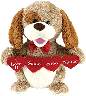 Animated Puppy Love Plush Dog Stuffed Animal Sings Sugar Pie Valentine Gift