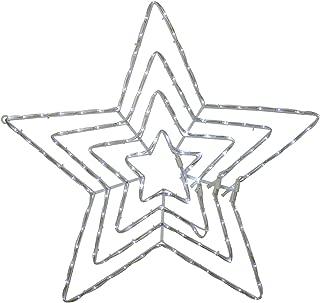 """Hofert 25"""" LED Blue and White Rope Light Star Christmas Decoration"""