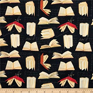 STOF France Digital French Fantaisy Book Noir Fabric