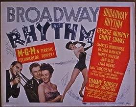 BROADWAY RHYTHM '44 TC ~ TOMMY DORSEY HIS ORCHESTRA ~ AL HIRSCHFELD ARTWORK