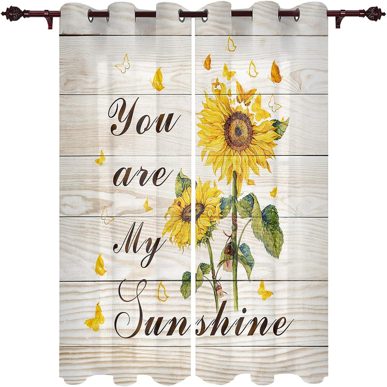 Window Treatment Sheer Regular store Curtains You Bu Los Angeles Mall Sunflower My Sunshine are