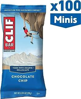 Clif bar - Mini Energy Bars - Chocolate Chip, 0.99 Ounce (100 Count)