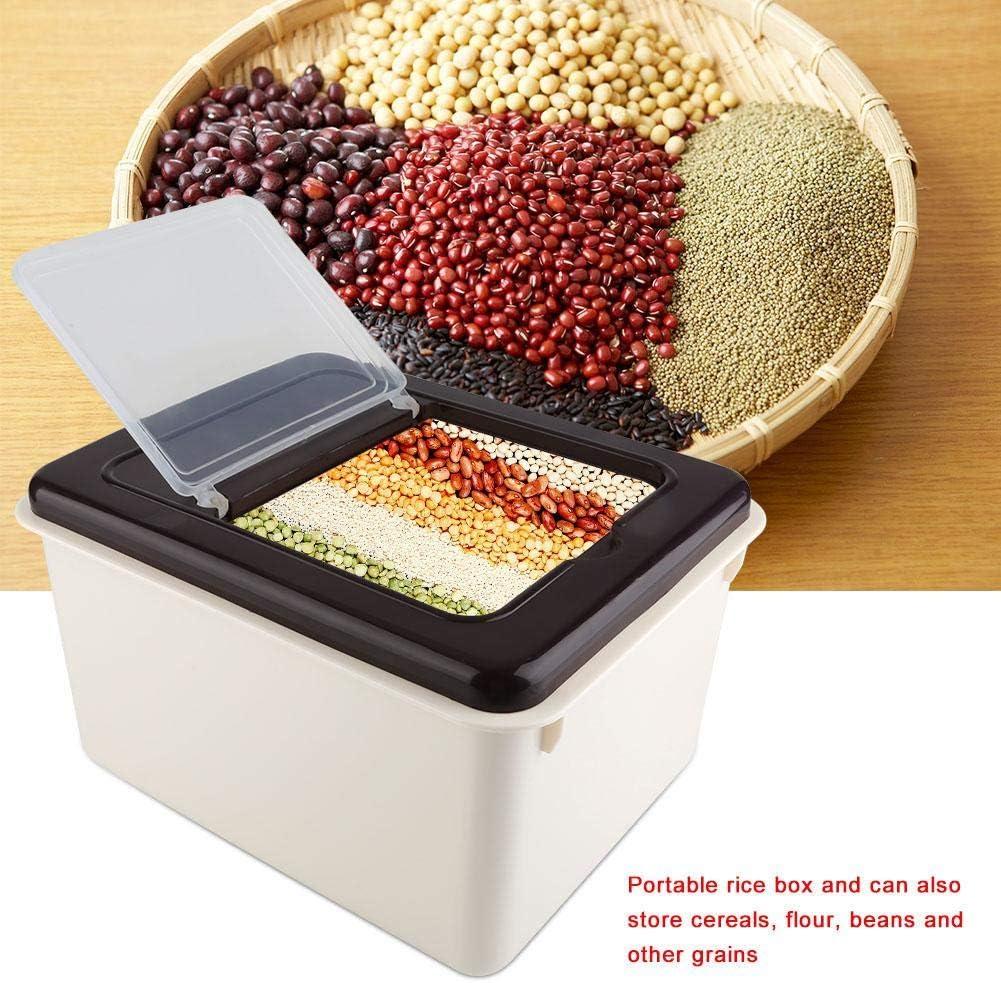 Kaffee 34 /× 28 /× 20 cm Eimer f/ür Mehl Tee Lebensmittel-Aufbewahrungsbox mit Schiebedeckel Reis PP braun Reis Bohnen M/üsli 10 kg Reis-Aufbewahrungsbeh/älter f/ür Mehl M/üsli