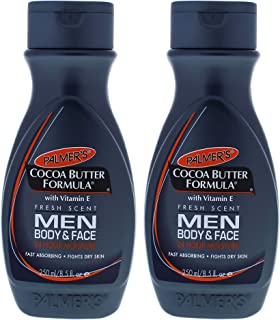 Palmers Cocoa Butter Men Body and Face Lotion - Pack of 2-8.5 oz Body Lotion
