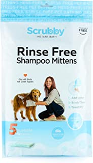 ScrubbyPet No Rinse Pet Wipes- Use Pet Bathing, Pet Grooming Pet Washing, Simple to Use,Just Lather, Wipe, Dry. Excellent Sensitive Skin. The Ideal Pet Wipes Bathing Your Pet Dog Cat