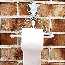 Classic Badkamer accessoires Vintage Iron Toiletpapier Handdoekrolhouder Badkamer Wall Mount Rack (Color : White)