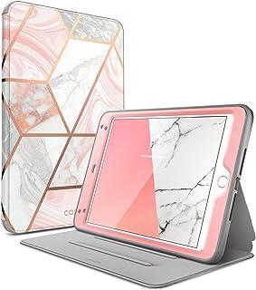 "i-Blason Cosmo Case for iPad Mini 5 2019 / iPad Mini 4, [Built-in Screen Protector] Full-Body Folding Stand Protective Case Cover with Auto Sleep/Wake, Marble, 7.9"""