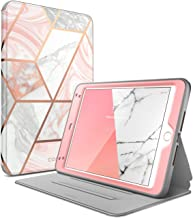 i-Blason Cosmo Case for iPad Mini 5 2019 / iPad Mini 4, [Built-in Screen Protector] Full-Body Folding Stand Protective Case Cover with Auto Sleep/Wake, Marble, 7.9