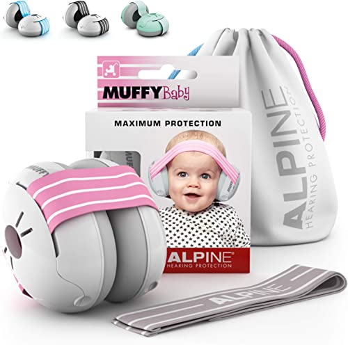 Alpine Muffy Baby Ear Protection for Newborn and Babies up to 36 Months – Noise Reduction Earmuffs for Toddlers and C...