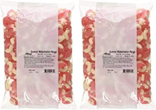 Albanese Candy Gummi Watermelon Rings, 4.5 Pound Bag, Watermelon-Flavored Soft Chewy Gummy Rings, Single-Flavor Gummies in Bulk Package (2 Pack)