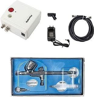 Display4top aerógrafo compresor conjunto de herramientas completo para la torta de inyección de tinta de impresión manía modelo (Blanco)