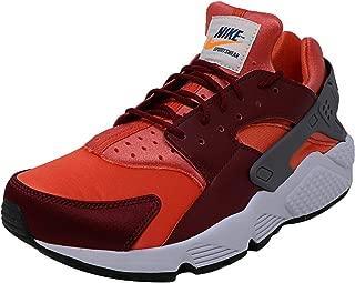 Nike Men's Air Huarache Gunsmoke/Team Red Rush Coral Ankle-High Sneaker - 12M
