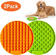 IKDAY Pet Licking Mat for Dogs & Cats, 2PCS Pet Lick Mat, Slow Feeder Lick Mat, Calming Mat for Anxiety Relief, Boredom Buster, Promote Health, Fun Feeder Lick Mat Pad