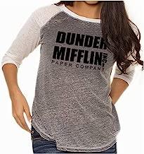 Brisco Brands Dunder Paper Company Mifflin Office TV Show Baseball Raglan T