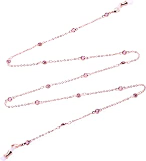 Bohemian Glass Chain Holder necklace for Sunglasses Lanyards with Swarovski Crystal