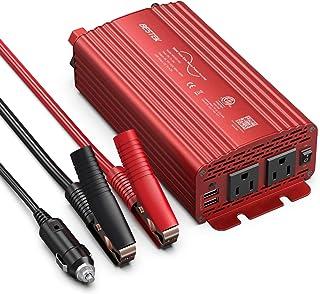 BESTEK 500W Pure Sine Wave Power Inverter DC 12V to AC 110V Car Power Inverter Converter Adapter with 4.2A Dual USB Car Ch...