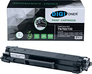 DIGITONER Compatible Toner Cartridge Replacement with CHIP for Brother TN760 TN730 TN-760 TN-730, Black [1 Pack]
