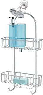 iDesign Classico 2 Shower Caddy Bathroom Storage Shelves for Shampoo, Conditioner and Soap, Silver, X-Large - ID68946ES