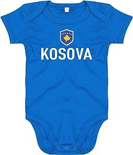FanShirts4u Baby Body KOSOVO // KOSOVA inkl Druck Name /& Nummer EM WM Trikot