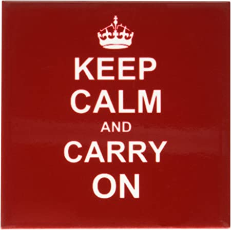 3drose Cst 157762 4 Keep Calm And Carry On White Text On Vintage Classic Dark Red Ceramic Tile Coasters Set Of 8 Home Kitchen Amazon Com