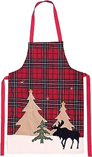 DEECOZY Tartanförkläde, vattentätt julplädförkläde, för matlagning och bakning hemma, restauranger och grill