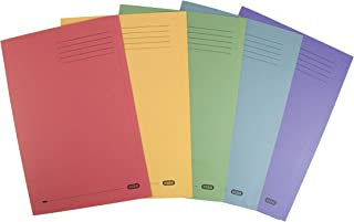 Elba 285 gsm Foolscap Square Cut Folders, Manilla, Assorted Colours, Pack of 25