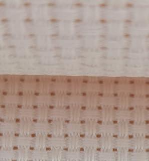 "19"" x 28"" 11CT Counted Cotton Aida Cloth Cross Stitch Fabric (Cream)"