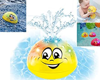 qingbao Bath Toys-Electric Induction Bath Spray Toy with Music & Lamp (Yellow Without Base)