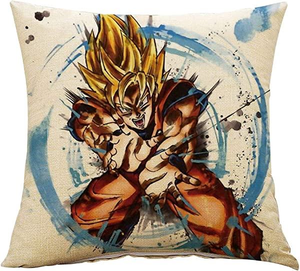 Bowinr Dragon Ball Z Pillowcase Japanese Anime Decorative Pillow Case Cushion Cover With Double Sided Pattern For Home And Decor Style 02