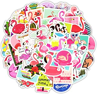 Honch Vinyl Flamingo Stickers Pack 50 Pcs Cute Flamingo Decals for Laptops Ipad Cars Luggage Water Bottle Helmet Teen