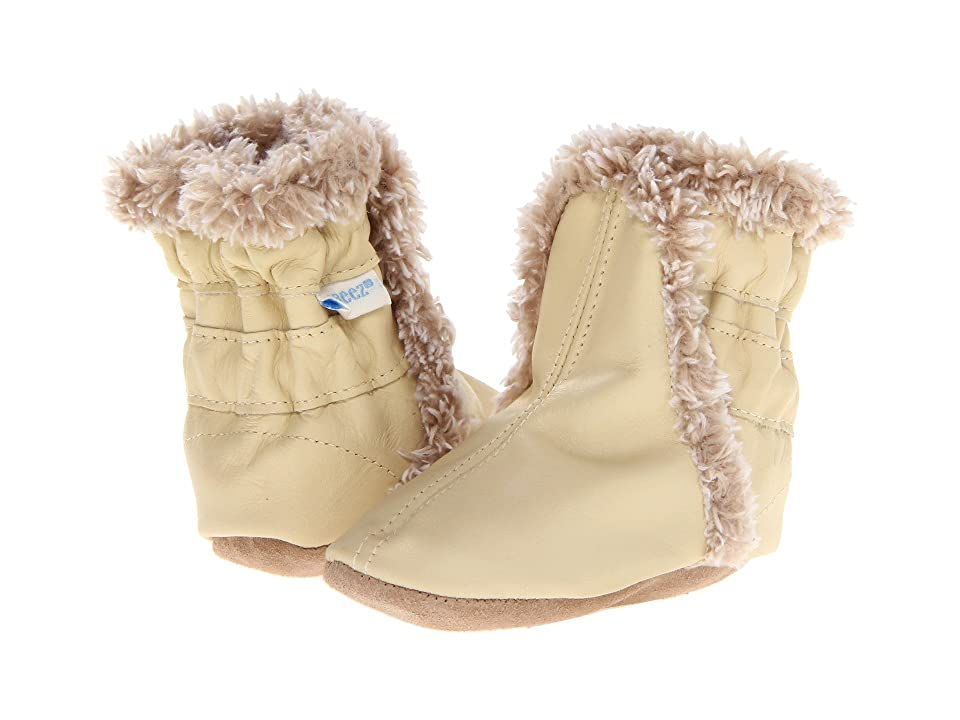 Robeez Classic Bootie (Infant/Toddler) (Cream) Boys Shoes