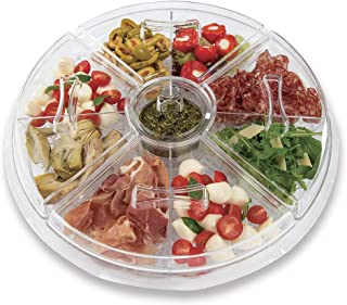 ChefVentions Appetizer Tray on Ice - 11 Piece Set, Keeps Food and Appetizers Fresh and Chilled, Great for Parties, Keeps Bugs Out, BPA Free Acrylic