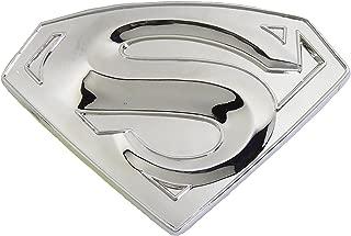 Superman S Logo Shield Silver Finishing Superhero Dc Comic Belt Buckle .
