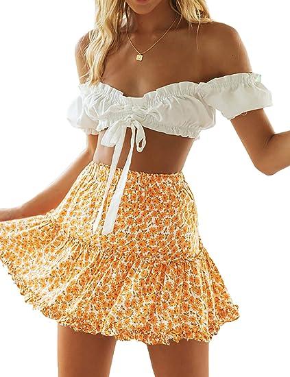 yellow boho skirt