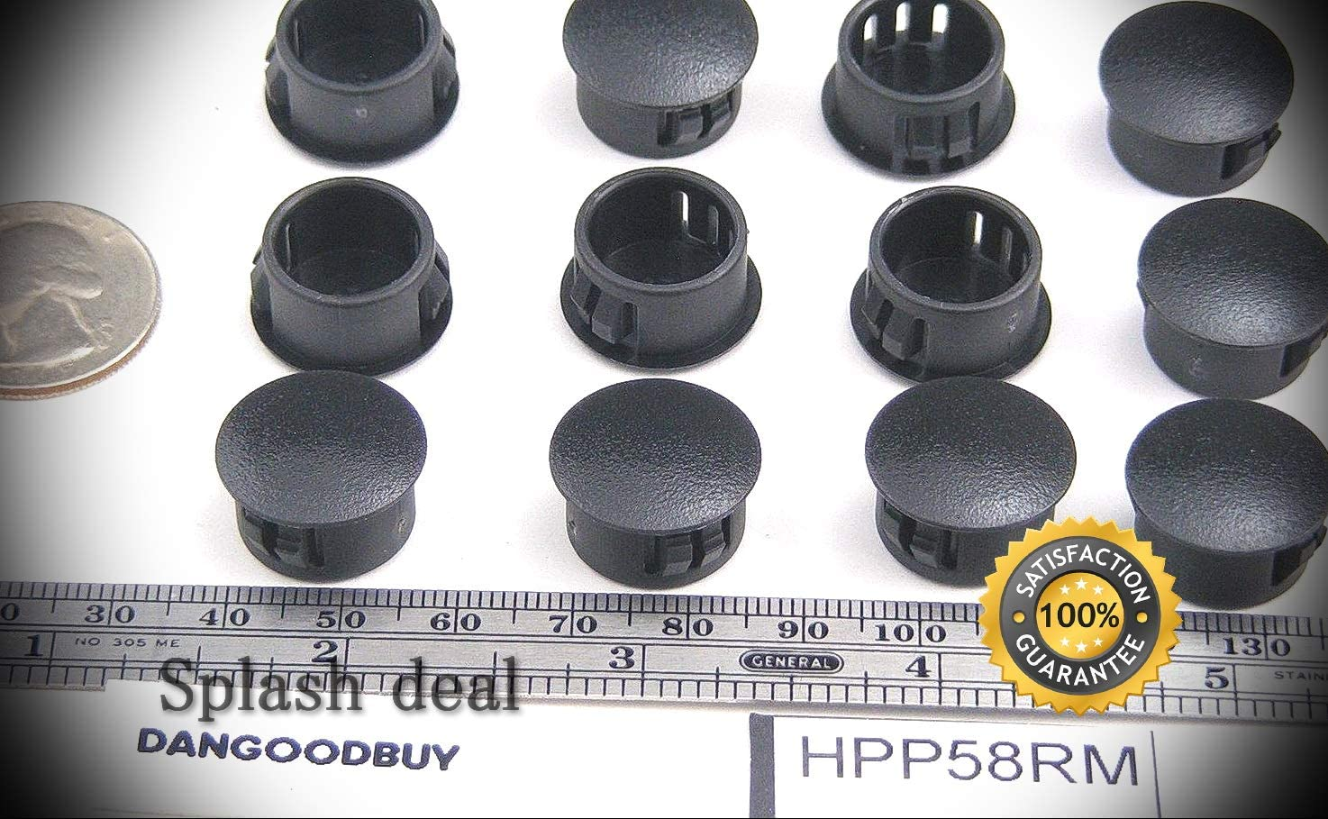 12 Max 67% OFF Locking Rigid Plastic Hole Plugs - Opening Blac 8