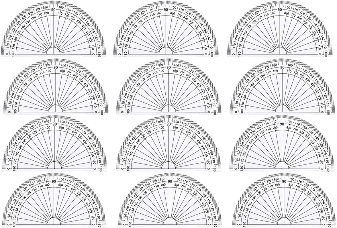 20 Pack Plastic Protractors Math New products world's highest quality popular Mini 4 safety 180 Protractor Degrees I