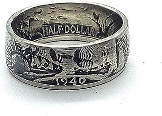 silver half dollar ring