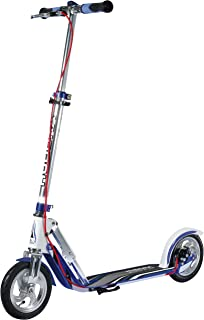 HUDORA BigWheel Air Dual Brake Lufthjul Scooter – Big Wheel Scooter med handbroms – Tret-Roller luftdäck – City Scooter