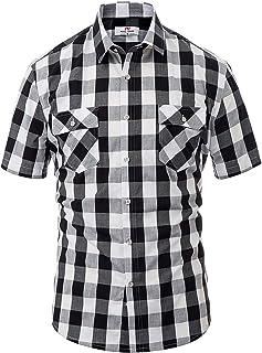 PAUL JONES PJ Men's Button Down Slim Fit Buffalo Plaid Shirt