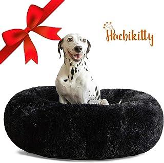 HACHIKITTY Hundebett, bequem, Donut-Kuschelbett, rund, Größe M, selbstwärmend