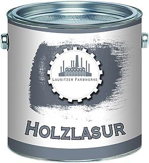 Lausitzer Farbwerke Holzlasur traditionelles Terrassenöl Holzschutzlasur Holzschutzanstrich Spezial-Lasur 1 L, Kastanie