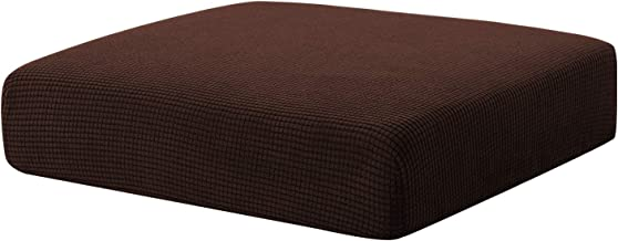 Hokway Stretch Couch Cushion Slipcovers Reversible Cushion Protector Slipcovers Sofa Cushion Protector Covers (Chocolate, Chair Cushion)