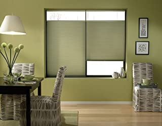 Windowsandgarden Cordless Top Down Bottom Up Cellular Honeycomb Shades, 19W x 37H, Bay Leaf, Any Size 19-72 Wide