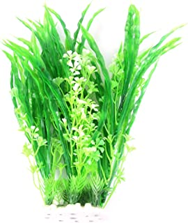 uxcell Emulational Aquarium Water Plant/Grass, 12.2-Inch, Green/White